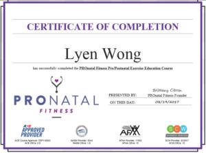 Pronatal certificate